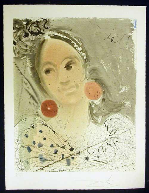 Salvador Dali - Carmen - Portrait of Carmen