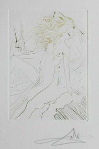 Salvador Dali - Le Decameron - La fiance du roi de Garge