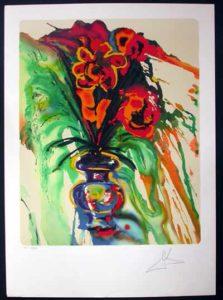 Salvador Dali - Fleurs Surrealistes (Flowers for Gala) - Gala's Bouquet