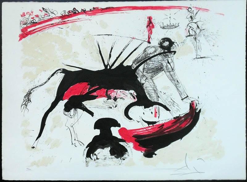 Salvador Dali - Tauromachie (Bullfight I) - III