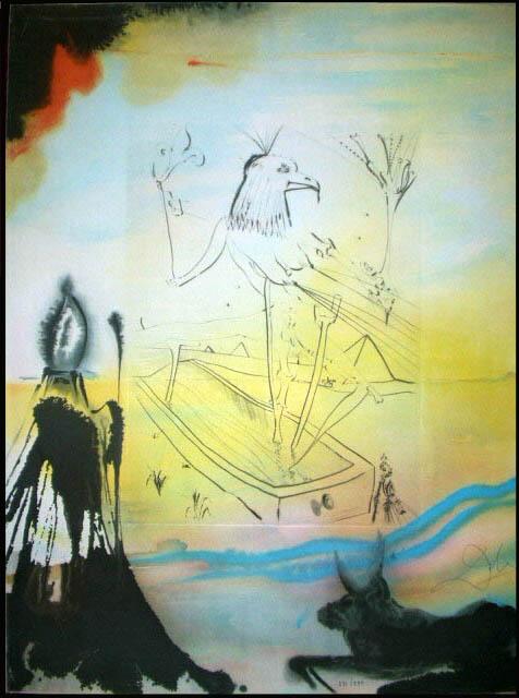Salvador Dali - Moise et Monotheisme - Engulfment of Horus Enlistement d'Horus