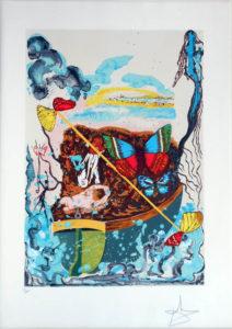 Salvador Dali - Papillons Anciennes - Dawn (six of swords)