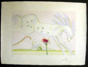 Salvador Dali - Le Bestiaire de La Fontaine - La Cheval et le Loup