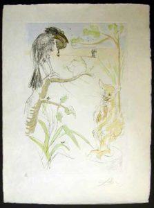 Salvador Dali - Le Bestiaire de La Fontaine - Le Corbeau et le Renard