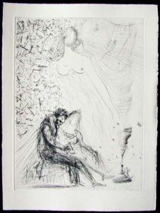 Salvador Dali - Les Amours de Cassandre - Le Couple a la Bougie