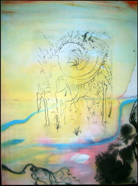 Salvador Dali - Moise et Monotheisme - Moses Saved from the Waters Moise sauve des eaux