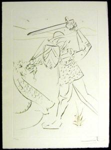Salvador Dali - La Quete du Graal - The Fall of Lancelot