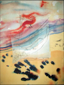 Salvador Dali - Moise et Monotheisme - The Sea Parted by Jehovah