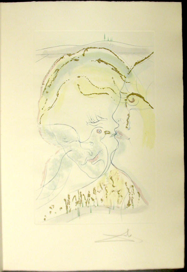 Salvador Dali - Song of Songs of Solomon - The Dovelike Eyes