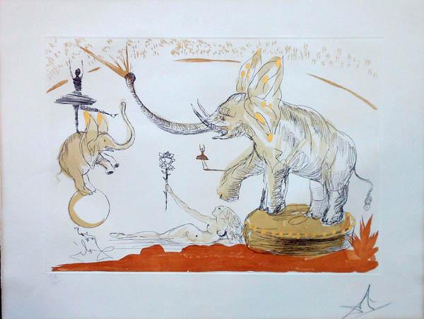 Salvador Dali - Le Cirque - Elephants