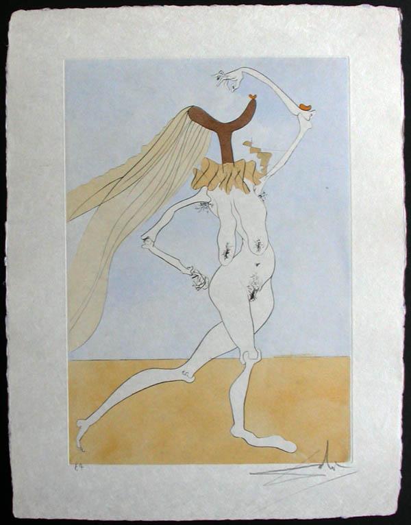 Salvador Dali - Japanese Fairy Tales - Paysage avec squelette