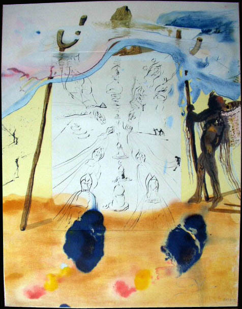 Salvador Dali - Moise et Monotheisme - Transfer of Traditions Tansfert des Traditions