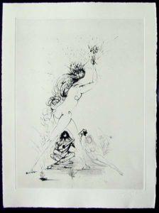 Salvador Dali - Les Amours de Cassandre - La Fille au Flambeau