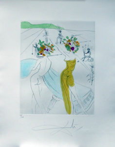 Salvador Dali - Hippies - Flower-Women at the Piano, Les Femmes-fleurs au piano