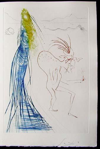 Salvador Dali - Tristan et Iseult - Frocin, the bad dwarf