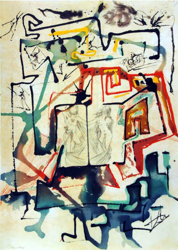 Salvador Dali - Alchimie des Philosophes - The Labyrinth