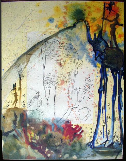 Salvador Dali - Moise et Monotheisme - The Tablets of the Law Les Tables de la Loi