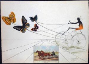 Salvador Dali - Currier & Ives - American Trotting Horses No. 1