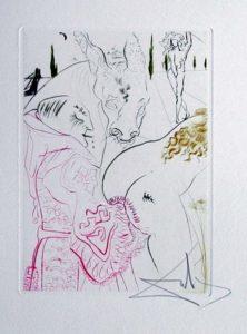 Salvador Dali - Le Decameron - Le jument de compere Pierre