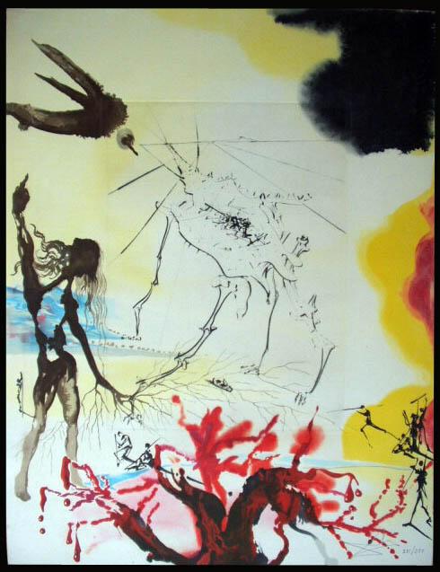 Salvador Dali - Moise et Monotheisme - The Famine La Famine