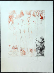Salvador Dali - The Mythology - Judgement of Paris