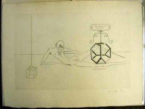 Salvador Dali - Dix Recettes d'Immortalite - Immortalite tetraedrique du cube