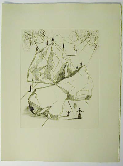 Salvador Dali - Poemes de Mao-tse-toung - Mountain of peace