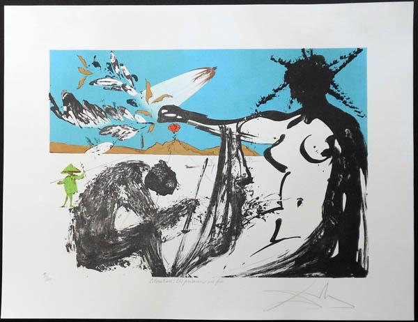 Salvador Dali - Peace in Vietnam - Liberation: The Prisoners are Free