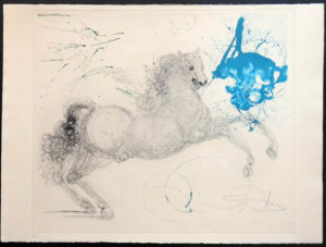 Salvador Dali - The Mythology - Pegasus