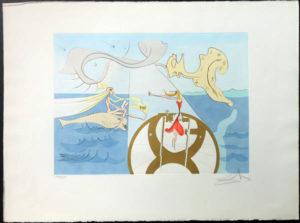 Salvador Dali - Hommage to Leonardo da Vinci - Sewing Maching