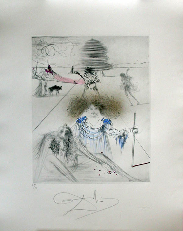 Salvador Dali - Hippies - The Old Hippie, Le Vieil Hippie