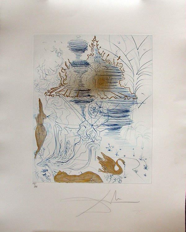 Salvador Dali - Hippies - The Pagoda, La Pagode