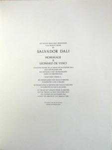 Salvador Dali - Hommage to Leonardo da Vinci - Tirage