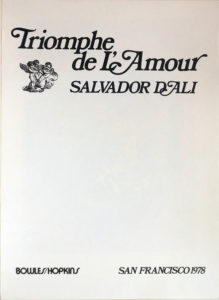 Salvador Dali - Triomphe de l'Amour (Triumph of Love) - Title