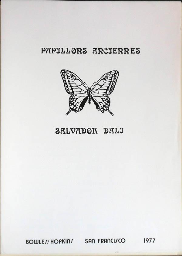 Salvador Dali - Papillons Anciennes - Title Page