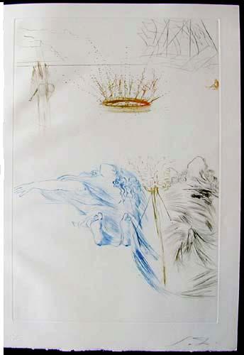 Salvador Dali - Tristan et Iseult - Tristan's testament