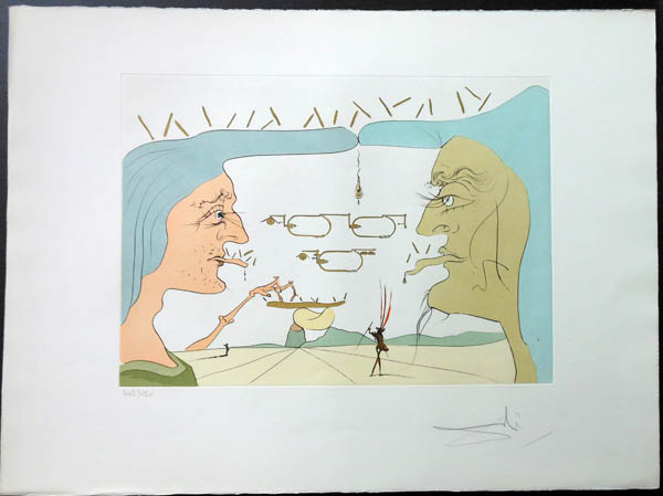 Salvador Dali - Hommage to Leonardo da Vinci - Wireless