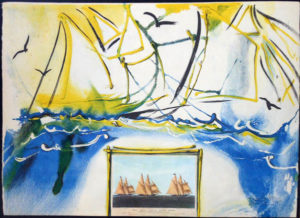 Salvador Dali - Currier & Ives - American Yachting Scene