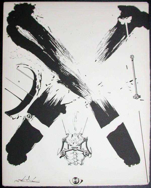 Salvador Dali - Don Quichotte de la Mancha, Book A - 1957 - L'ere atomique The atomic era - #4