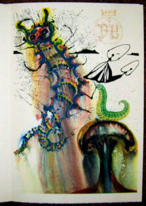 Salvador Dali - Alice in Wonderland - Advice from a Catterpillar