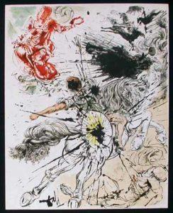 Salvador Dali - Pages choisies de Don Quichotte de la Mancha - Apparition de Dulcinne