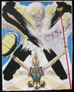 Salvador Dali - Pages choisies de Don Quichotte de la Mancha - The atomic era
