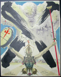 Salvador Dali - Don Quichotte de la Mancha, Book A – 1957 - L'ere atomique The atomic era