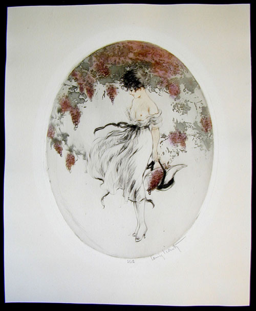 Louis Icart Autumn Bonnet