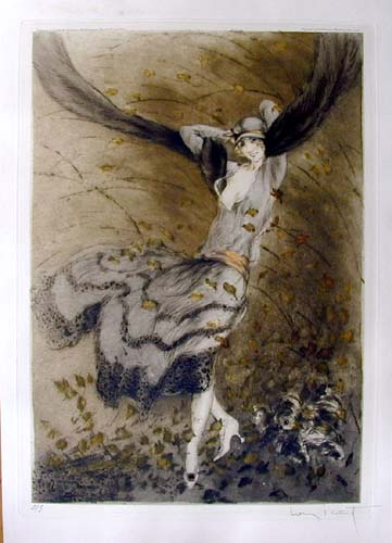 Louis Icart Autumn Swirls