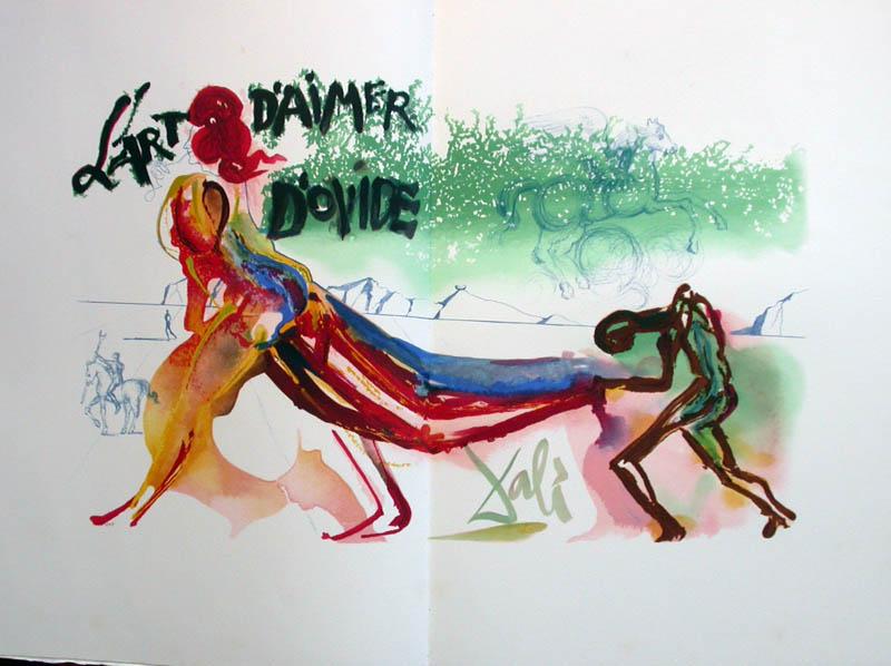 Salvador Dali - L'Art de Aimer - Ovide - Double page lithograph (frontispiece)
