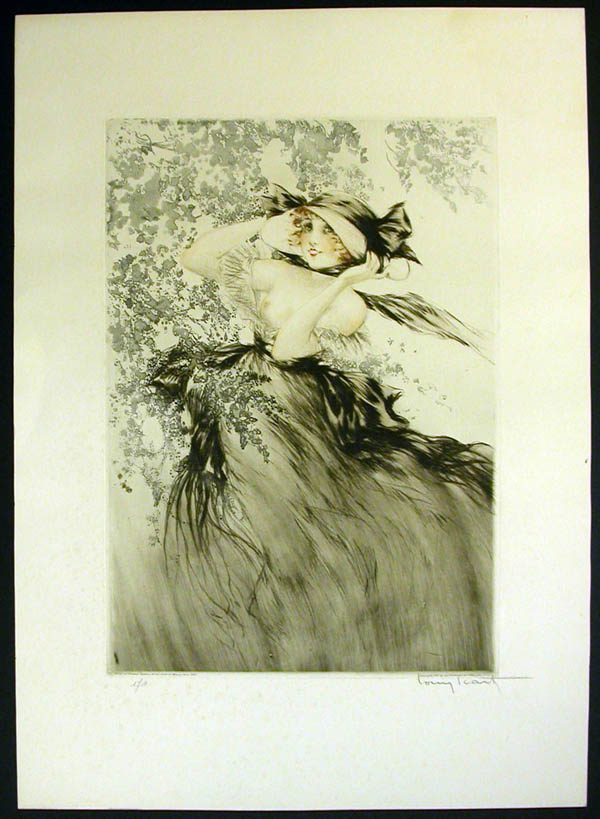 Louis Icart Black Bows