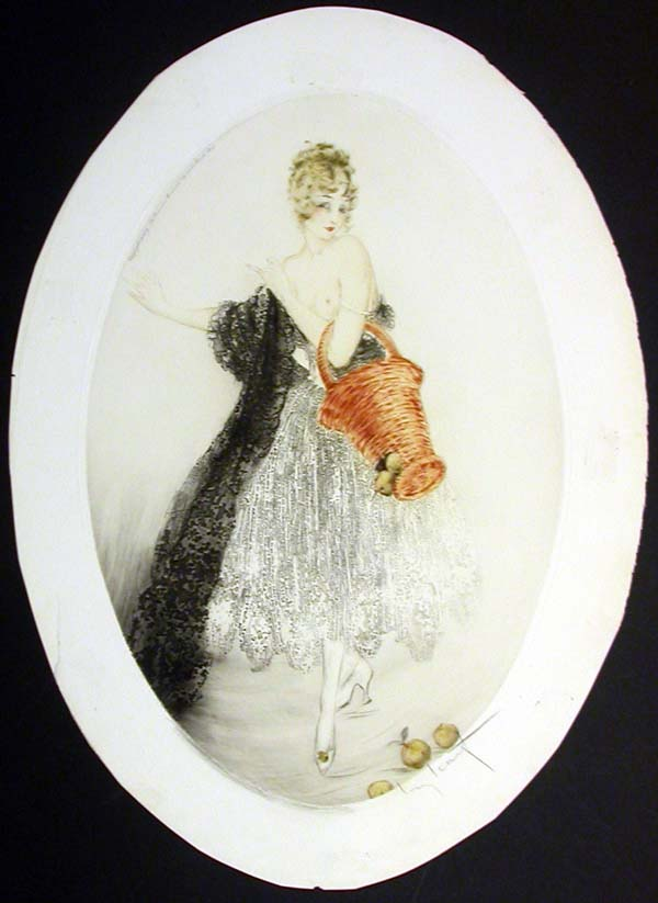 Louis Icart Broken Basket