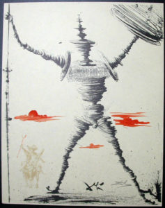 Salvador Dali - Don Quichotte de la Mancha, Book A – 1957 - Don Quichotte