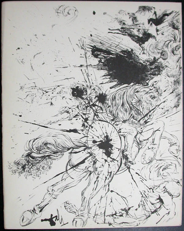 Salvador Dali - Don Quichotte de la Mancha, Book A - 1957 - Apparition de Dulcinne - #1